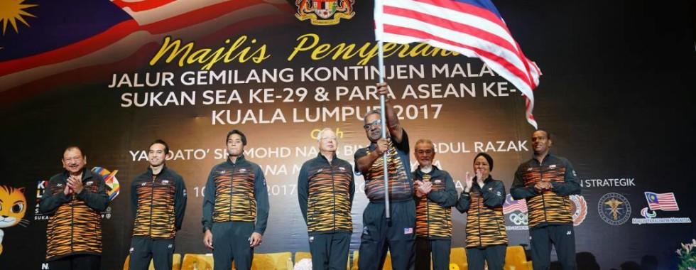 Majlis Penyerahan Jalur Gemilang Kontigen Malaysia
